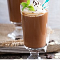 homemade mocha frappe recipe that tastes just like McDonald's! www.sweetpenniesfromheaven.com
