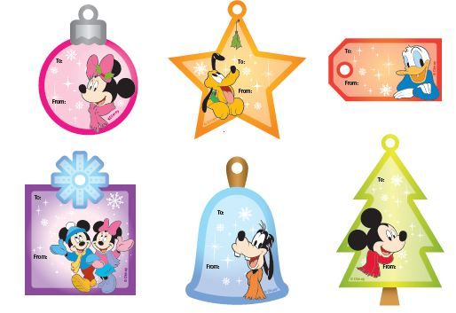 disney gift labels