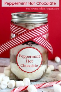 Peppermint Hot Chocolate Gifts in a Jar