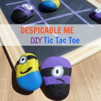DESPICABLE ME - DIY Tic Tac Toe