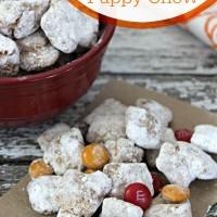Pumpkin Pie Puppy Chow Recipe - Fun fall treat - www.sweetpenniesfromheaven.com