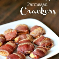 bacon wrapped parmesan crackers