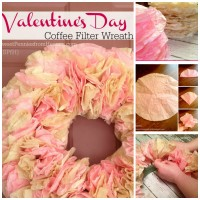 Coffee Filter Wreath Tutorial - DIY Craft www.sweetpenniesfromheaven.com