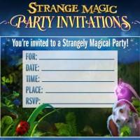 strange magic party invitations