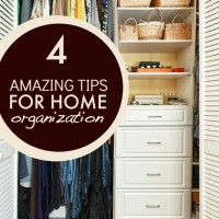 4 Home Organization Tips #MomsCheckIn