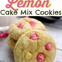 Easy Peasy Lemon Squeezy - Lemon Cake Mix Cookies (cheater recipe!)