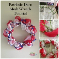 patriotic deco mesh wreath tutorial
