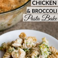 Enjoy this easy and creamy chicken and broccoli pasta bake recipe! Perfect fall or winter recipe! www.sweetpenniesfromheaven.com