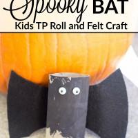 Spooky Bat Toilet Paper Roll Craft | Easy Kids Halloween Craft