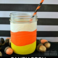 These DIY Candy Corn Mason Jars are the sweetest and easiest craft on the planet to make! Perfect treat jars for fall and Halloween! www.sweetpenniesfromheaven.com
