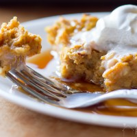 Pumpkin Pie Baked Oatmeal - Breakfast and Snack Idea, full of fiber and protein - http://sweetpenniesfromheaven.com