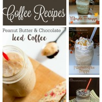 4 simple seasonal coffee recipes for the coffee lovers out there! Maple frappe, pumpkin spice frappe, peppermint mocha frappe, and a Buckeye frozen coffee! www.sweetpenniesfromheaven.com