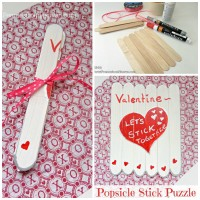 Popsicle Stick Puzzle Valentine's Day Craft for Kids! www.sweetpenniesfromheaven.com