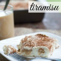 Easy chai tiramisu without eggs, and using ladyfingers or vanilla wafers.