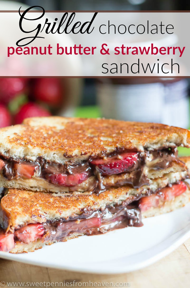 ... Giveaway + Grilled Chocolate Peanut Butter and Strawberry Sandwich