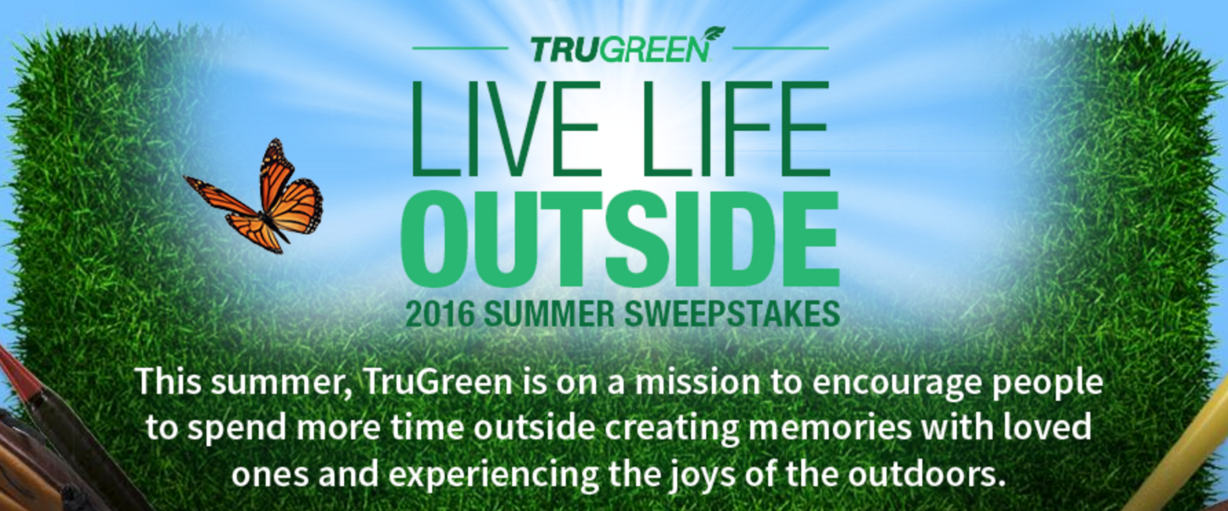 TruGreen #LiveLifeOutside 2016 Sweepstakes