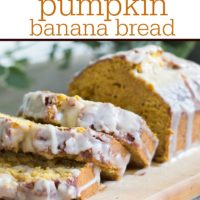 Glazed Pumpkin Banana Bread + How to Combat Tummy Trouble this Holiday Season