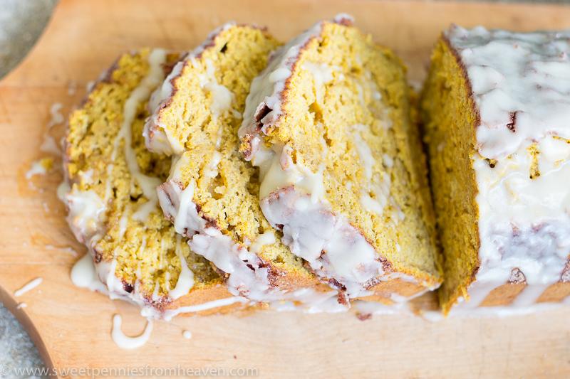 glazed pumpkin banana bread recipe