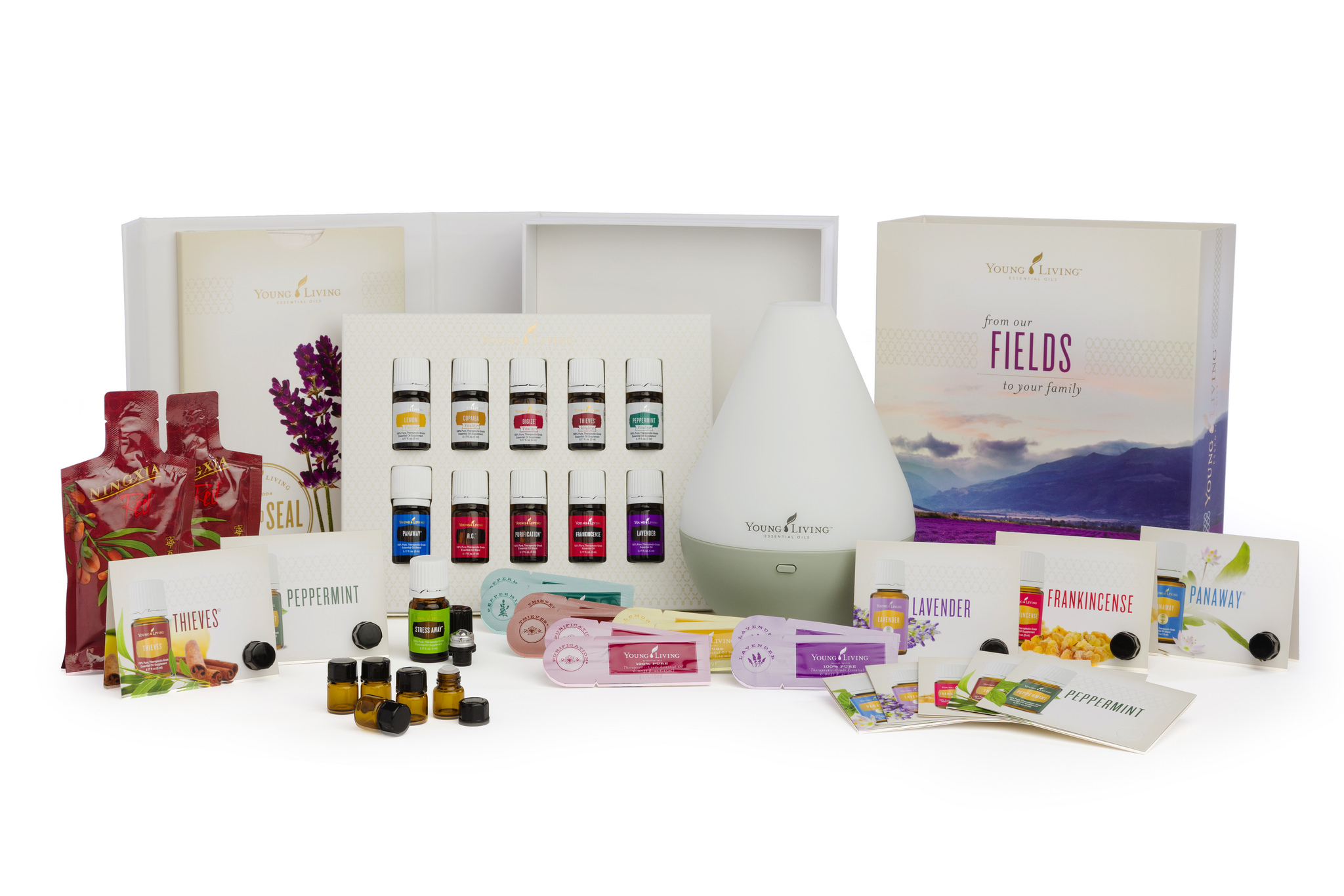 Young Living Premium Starter Kit with Dew Drop Diffuser