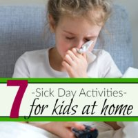 sick day activities for kids at home