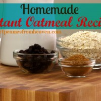 Homemade Instant Oatmeal Recipe