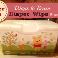 Reuse Diaper Wipe Containers