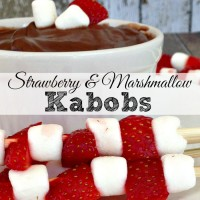 Dr. Seuss Cat in the Hat Kabobs with Strawberries and Marshmallows