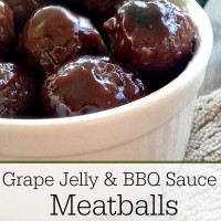 grape jelly and bbq sauce meatballs