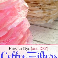 how to dye coffee filters for crafts
