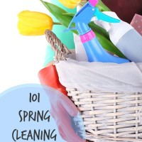 101 Spring Cleaning Tips and Tricks #MomsCheckIn