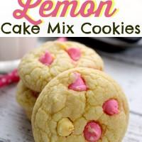 Easy Peasy Lemon Squeezy - Lemon Cake Mix Cookies (cheater recipe!)