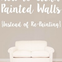 How to clean painted walls vs. repainting them! Simple and quick, with just one product!