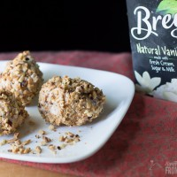 You'll love this grown up yummy ice cream treat called Toasted Almond and Vanilla Arancini. We used Breyer's Natural Vanilla ice cream to make it and it was DELICIOUS!