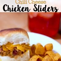 Chili Cheese Chicken Sliders
