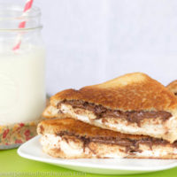 Grilled Smores Sandwich. Such an ooey and gooey treat!